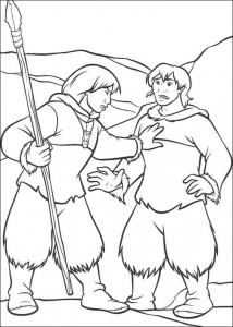 kleurplaat Sitka en Denahi