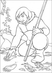 coloring page Sitka