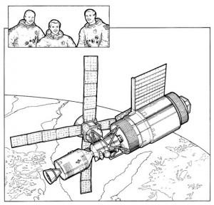 раскраска Skylab, 1974