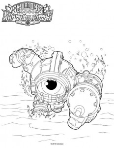 coloring page Skylander superchargers (1)