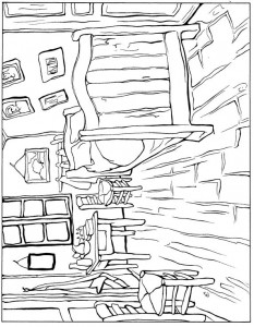 coloring page Bedroom 1888