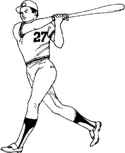 coloring page Batter (1)