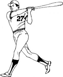 Disegno da colorare Batter (1)