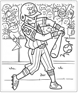 coloring page Batter (3)