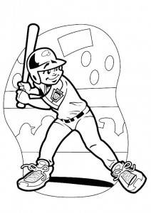 coloring page Batter