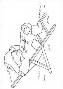 coloring page Sleeping in a beach chair