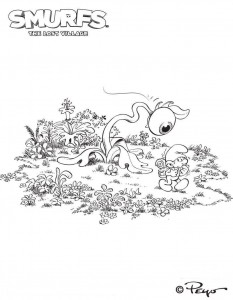 smurfs coloring page 02