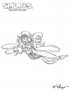 smurfs coloring page 03