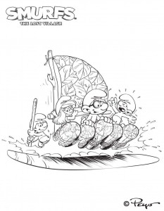smurfs coloring page 04
