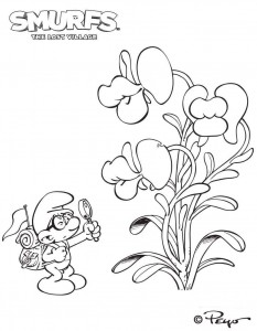 smurfs coloring page 05