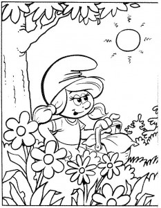 målarbok Smurfette (3)