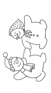 coloring page Snowman (2)