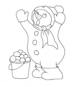 målarbok Snowman (3)