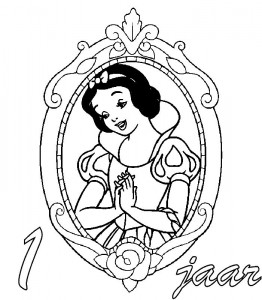 coloring page Snow white 1 year