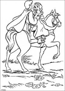målarbok Snövit och prinsen