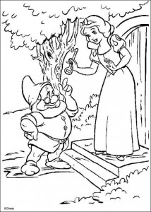 coloring page Snow White gets key