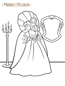 coloring page Snow White (Mirror Mirror) (1)