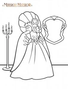 målarbok Snow White (Mirror Mirror) (1)
