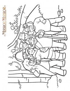 coloring page Snow White (Mirror Mirror) (2)