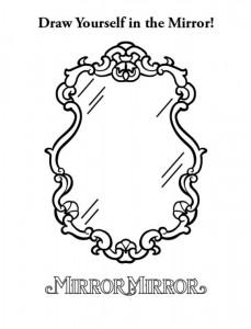 målarbok Snow White (Mirror Mirror) (3)