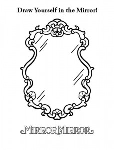 kleurplaat Sneeuwwitje ( Mirror Mirror) (3)