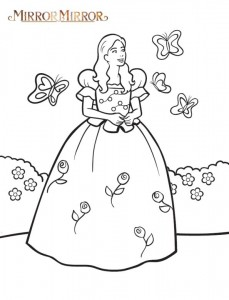 coloring page Snow White (Mirror Mirror)