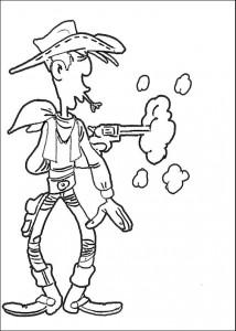 målarbok Snabbare som hans skugga