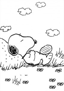 Coloriage Snoopy 2