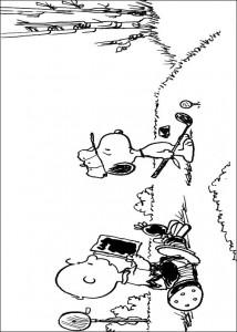 kleurplaat Snoopy (8)