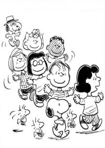 kleurplaat snoopy peanuts