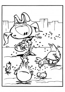 coloring page Snorkler (14)