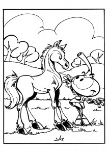 coloring page Snorkler (17)