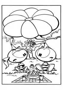coloring page Snorkler (19)