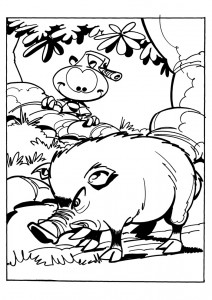 coloring page Snorkler (2)