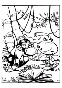 coloring page Snorkler (7)