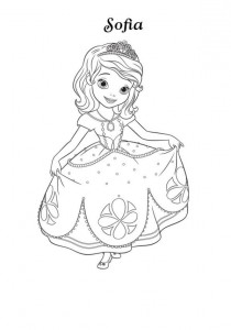 coloring page sofia-2