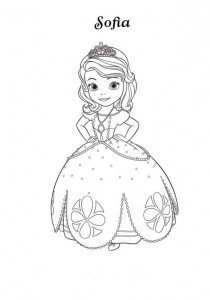 coloring page sofia-3