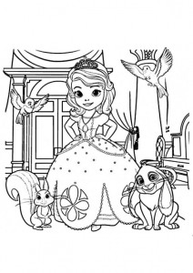 coloring page sofia and friends