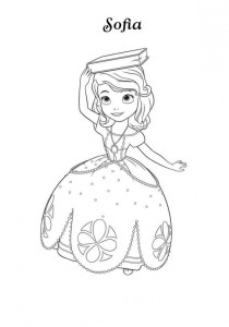 sofia coloring page