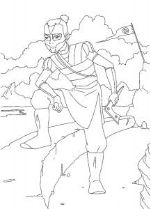 coloring page sokka (1)