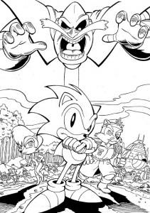 kleurplaat Sonic X (11)