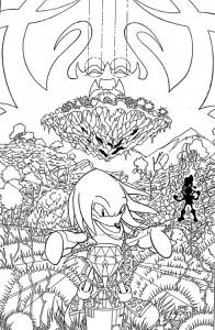 kleurplaat Sonic X (12)