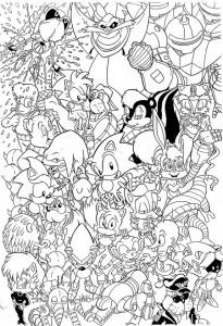 kleurplaat Sonic X (15)