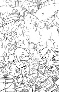coloring page Sonic X (4)