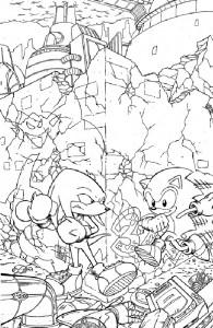 kleurplaat Sonic X (4)