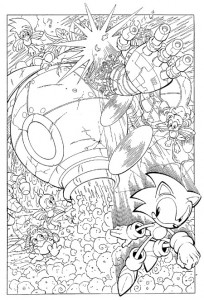 coloring page Sonic X (9)