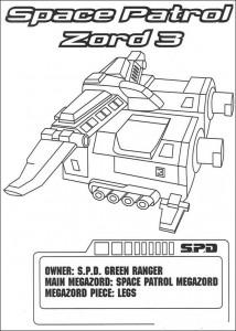 kleurplaat Space Patrol