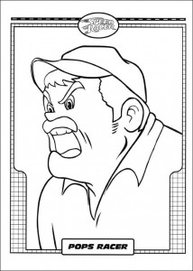 coloring page Speed racer (2)