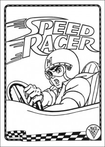 coloring page Speed racer (36)