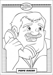coloring page Speed racer (5)